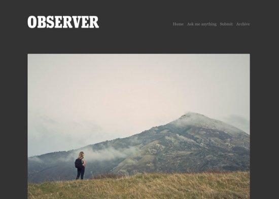 Observer Free Tumblr Themes