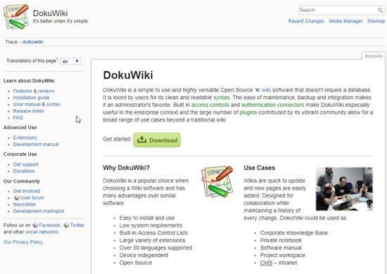 DokuWiki Wiki Software