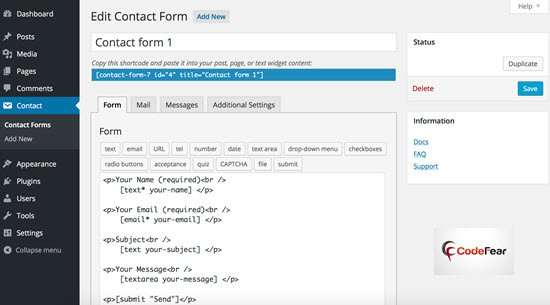 Contact Form 7 Best WordPress Plugins