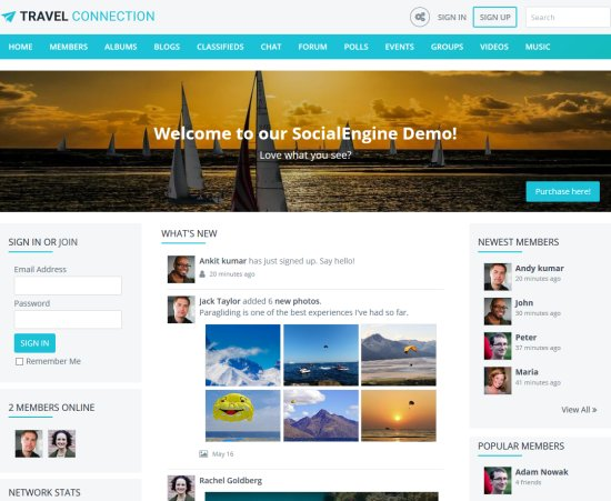 SocialEngine PHP Social Network Script