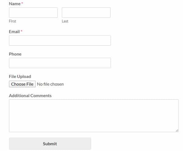 File Upload Form