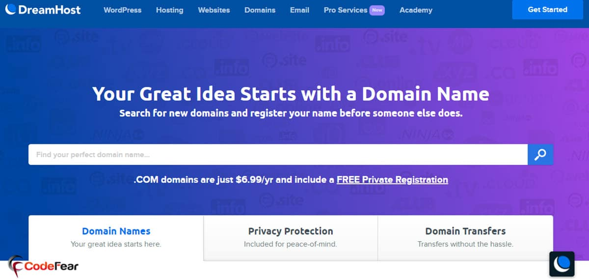 DreamHost Domain Name