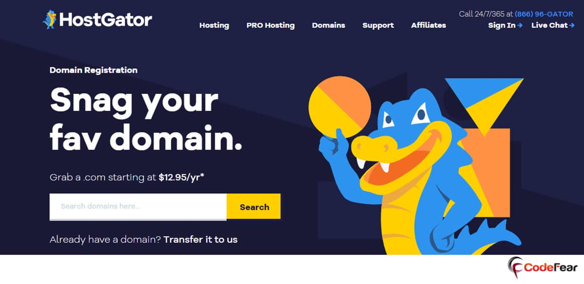 HostGator Cheap Domain Name