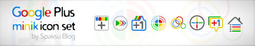 Google Plus Icons Set